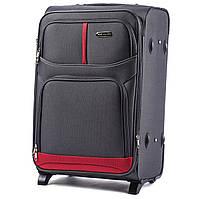 Малый тканевый чемодан Wings 206 на 2 колесах серый