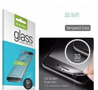 Защитное стекло для HUAWEI Y5 (2017)/Y6 (2017), (3D, с олеофобным покрытием), цвет черный