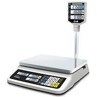 Весы торговые CAS PR-15 II P со стойкой (RS-232)