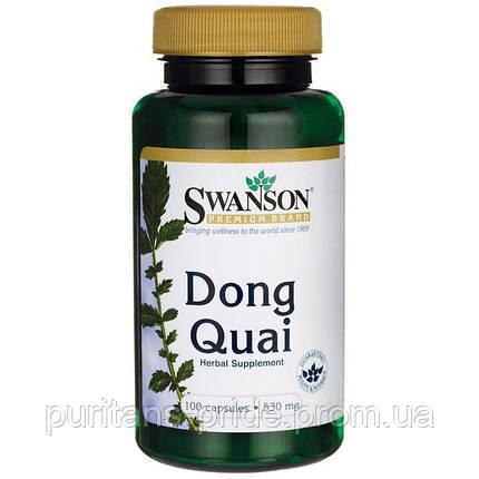 Регулятор громонального фона у женщин - Донг Куэй / Dong Quai (Дягиль лекарственный), 530 мг 100 капсул, фото 2