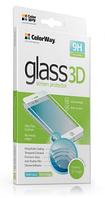 Защитное стекло для Samsung A530 (2018), Galaxy A8 (3D, с олеофобным покрытием), цвет белый