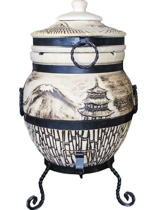 """Тандыр """"Подарок"""" (45 л). Дизайн «Япония»"""