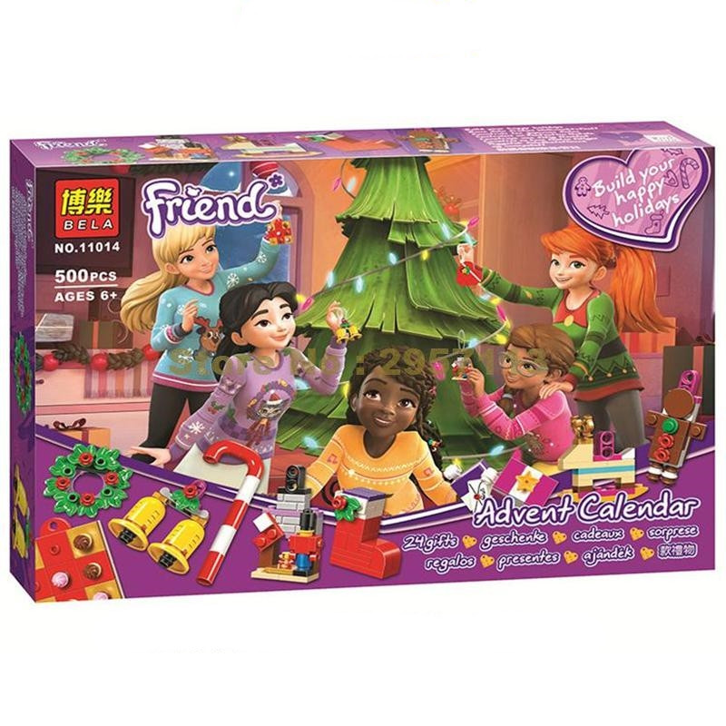 """Конструктор Bela 11014 """"Новогодний календарь Friends"""" (реплика Lego Friends 41353), 500 дет"""