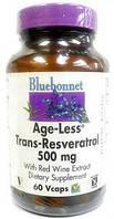 Ресвератрол (Resveratrol), Bluebonnet Nutrition, 500 мг, 60 капсул