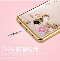 Чехол/Бампер со стразами для Xiaomi Redmi Note 4 Золотой (Силиконовый)