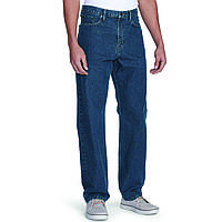 Джинсы Eddie Bauer Mens Traditional Fit Essential Jeans DK STONEWASH 38-32  Синие (6234DSW 513995f180d6b