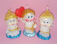Свечи ко Дню Святого Валентина ангелочки купидоны