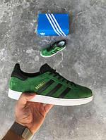Мужские кроссовки Adidas Gazelle Green Suede