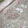 Бязь с бабочками на бежевом фоне в горошек в стиле Прованс, ширина 220 см