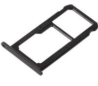 Лоток для сим карты и карты памяти для Huawei P8 Lite 2017 (PRA-L11/PRA-L21), черный