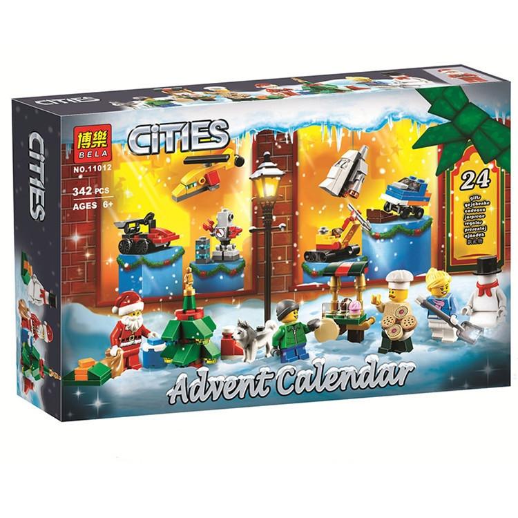 """Конструктор Bela 11012 """"Новогодний календарь City"""" (реплика Lego City 60201), 342 дет"""