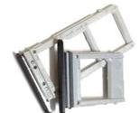 Лоток для сим карты и карты памяти для Samsung A530F Galaxy A8 Duos серый на одну Sim-карту комплект 2 шт