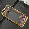 Чехол/Бампер со стразами для Xiaomi Mi A1 Золотой (Силиконовый), фото 3