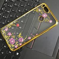 Чехол/Бампер со стразами для Xiaomi Mi A1 Золотой (Силиконовый), фото 1
