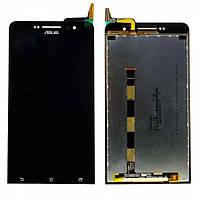 Дисплей для Asus ZenFone 6 с чёрным тачскрином