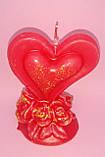Свечи ко Дню Святого Валентина сердце в розах, фото 2