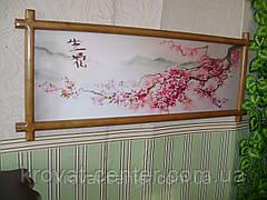 """Картина в белой деревянной рамке """"Ветка Сакуры"""". , фото 2"""