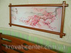 """Картина в белой деревянной рамке """"Ветка Сакуры"""". , фото 3"""