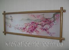 """Картина в деревянной рамке """"Ветка Сакуры""""., фото 3"""