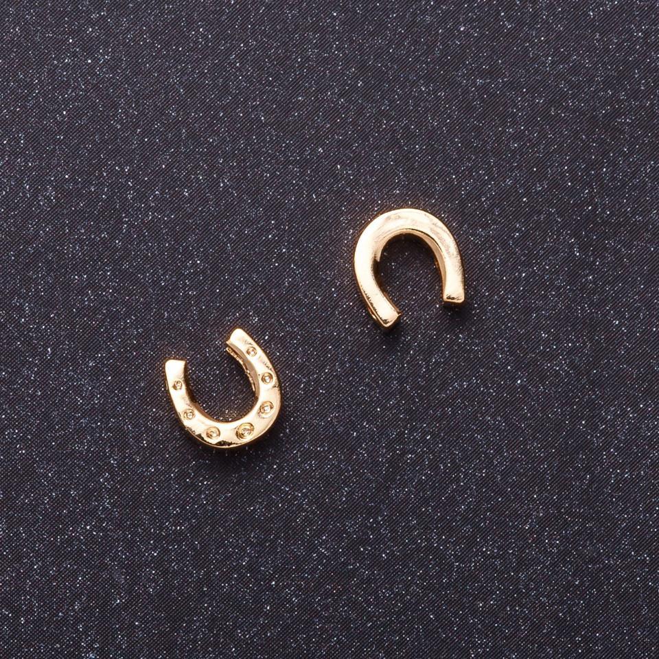 Кулон Подкова d-7мм желтый металл