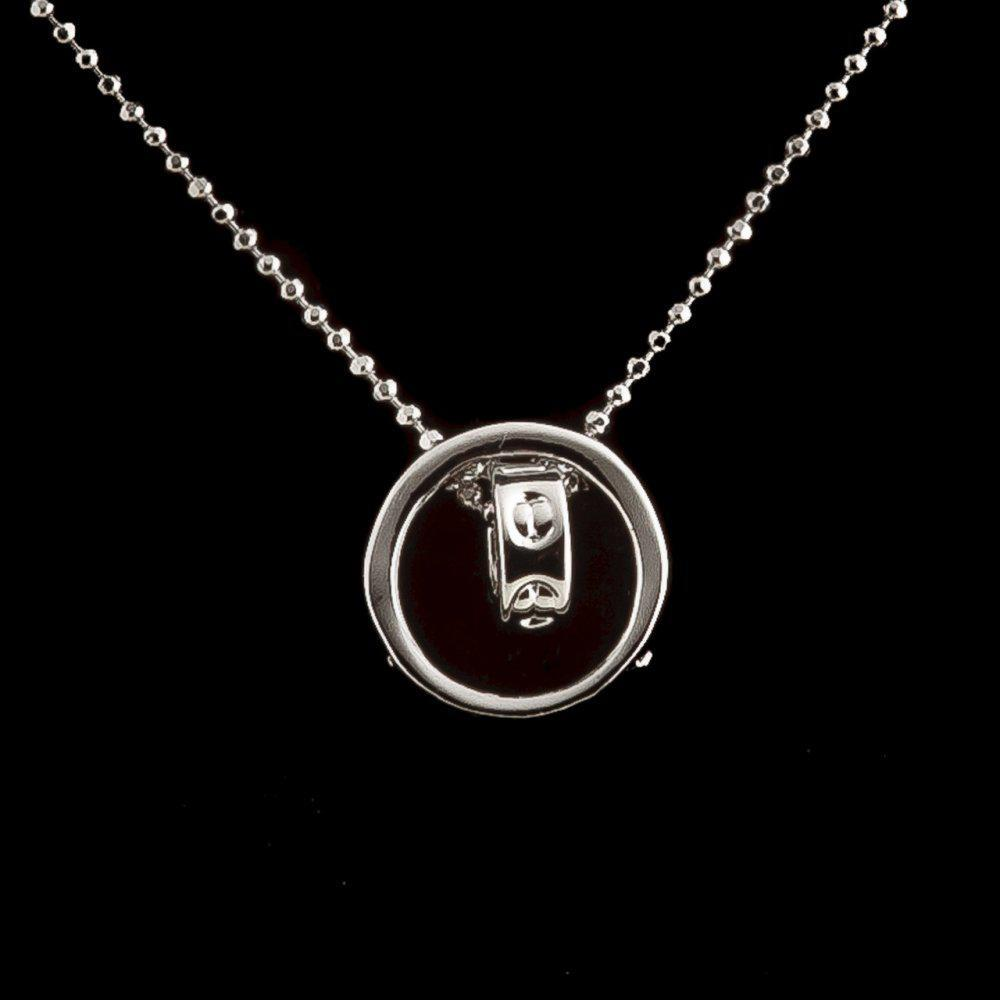 Кулон на цепочке Кольцо в кольце цвет металла серебро р-р подвески ? 1,4 см