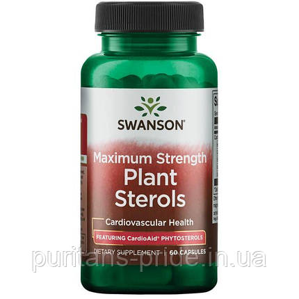 Maximum Strength Plant Sterols CardioAid, Swanson, 60 капсул, фото 2