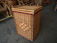 Ящик ровный  для белья плетеный из лозы