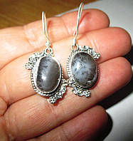 """Серебряные серьги  с дендроопалом   """"Мерлин"""", от студии  LadyStyle.Biz, фото 1"""