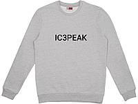 Свитшот IC3PEAK серый, унисекс (мужской, женский, детский)