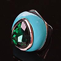 Перстень пышный капля кристалл эмаль р-р 18-20