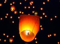 Небесный фонарик купол- удивите близких!