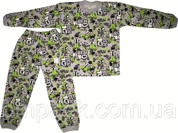 Пижама детская кулир БенТен размер 122-140, фото 2