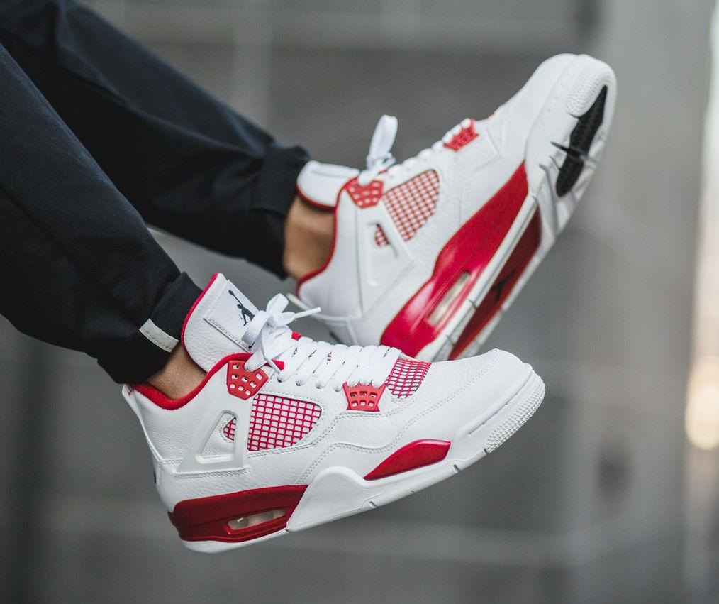 28863b10b7f6 NIke Air Jordan 4 Retro Alternate 89 White Red   женские кроссовки - BOOT  CLUB