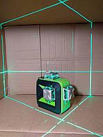 Лазерный уровень Huepar 3D HP-603CG бирюзовый луч+ ПРОТИВОУДАРНЫЕ АЛЮМИНИЕВЫЕ БАШНИ!!!