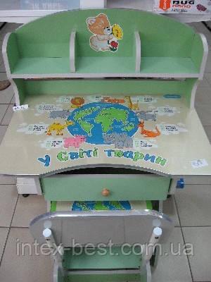 Регулируемая детская парта растишка со стульчиком Bambi HB 2882-03, фото 2