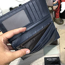 Bottega Veneta Wallet Continental Intrecciato In Denim, фото 3