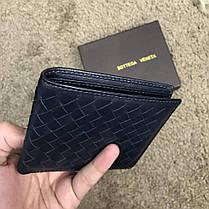 Bottega Veneta Wallet Intrecciato Bi-Fold In Denim, фото 3