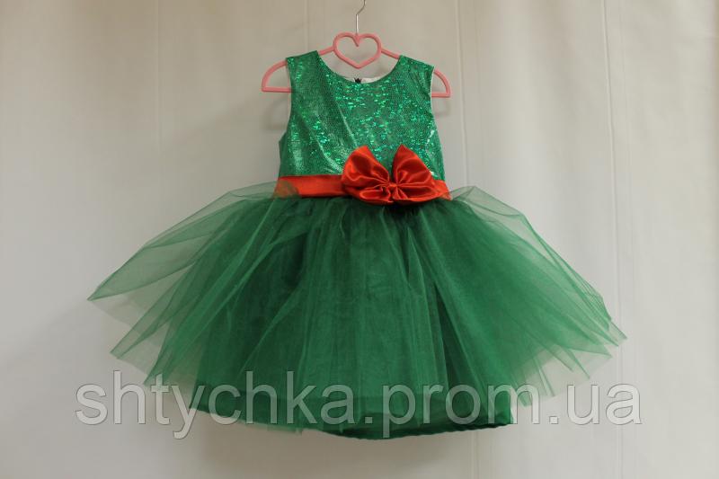 """Нарядное зеленое платье """"Милания""""."""