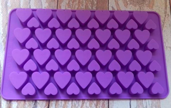 Форма силиконовая Сердечки Мини, фото 2