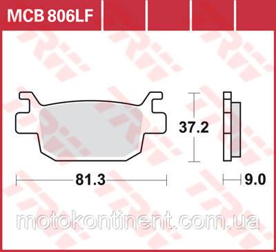 Мотоколодки для скутераTRW LUCAS MCB806SRM HONDA Forza NSS 250-300/HONDA Silver Wing/HONDA SH