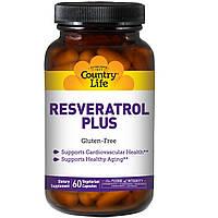 Ресвератрол (Resveratrol), Country Life, 60 капсул