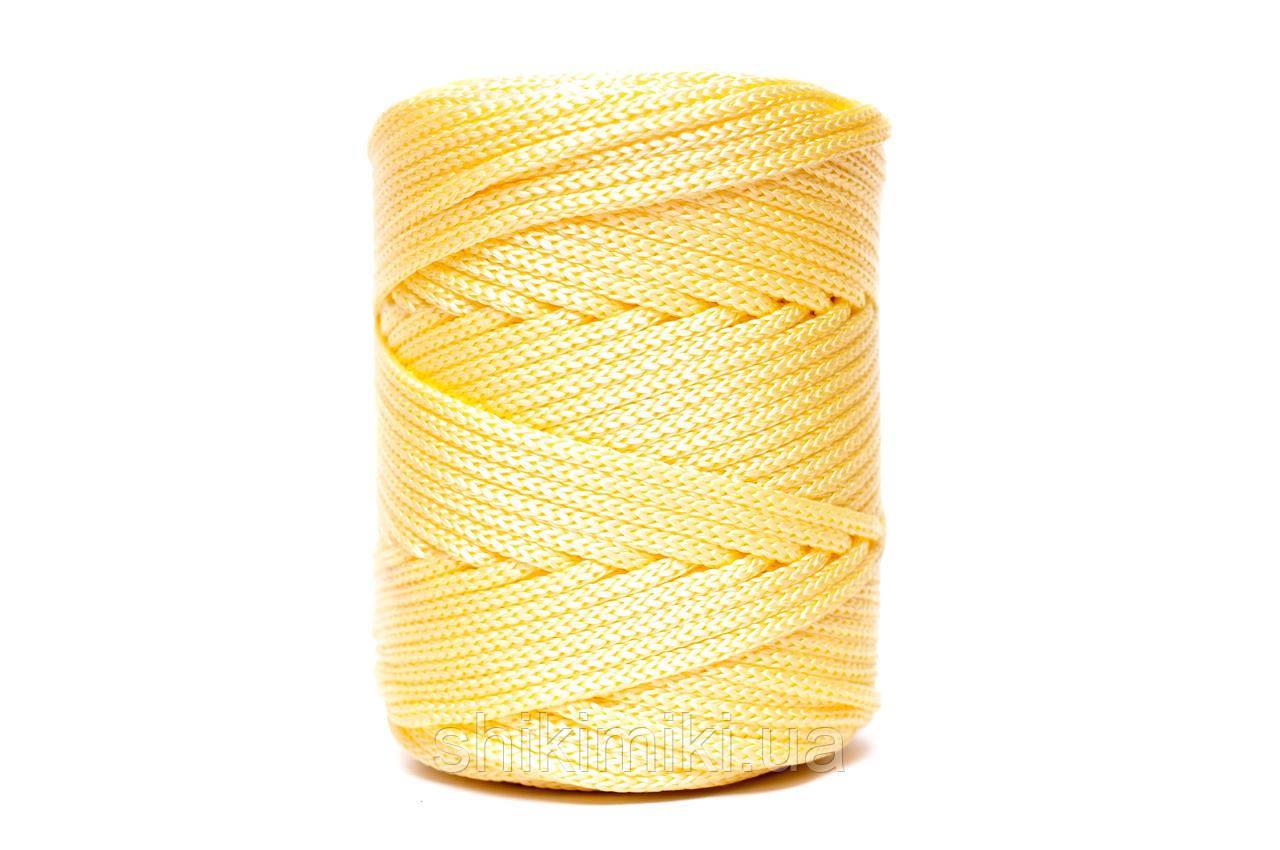 Трикотажный полипропиленовый шнур PP Cord 5 mm, цвет Желтый