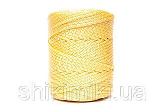 Трикотажный полипропиленовый шнур PP Cord 5 mm, цвет Лимонный