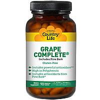 Ресвератрол (Resveratrol), Country Life, 90 капсул