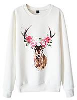 Женский стильный свитшот с принтом Deer   (женские кофты, кофточки, толстовки и регланы, свитера и кардиганы)