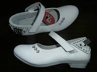 Модные кожаные качественные туфельки для девочек  Сердечки
