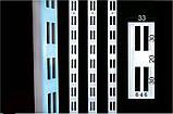 Рейка 1450мм перфорована білого кольору для настінного торгового обладнання, фото 3