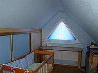 Плиссе на  треугольные окна