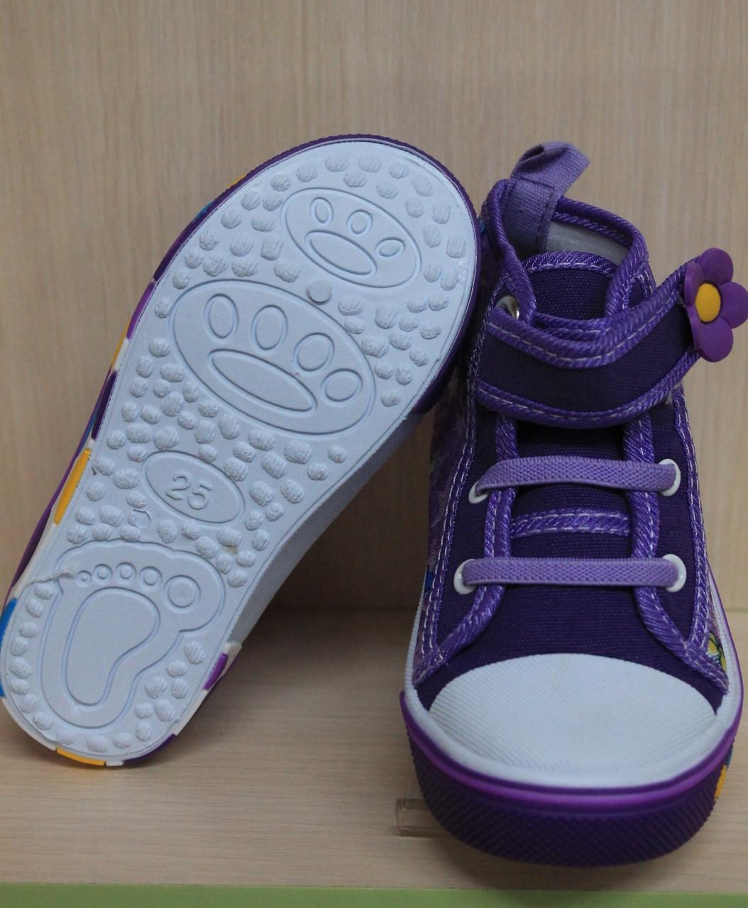 e3f6d34fb9fd Купить Детские кеды на девочку, текстильная обувь, высокие кеды р.26 ...