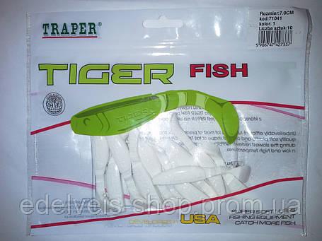 "Силикон  рыболовный TRAPER-""TIGER FISH"" 70мм kolor 1, фото 2"
